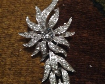 Faux diamond Sarah Convetry brooch