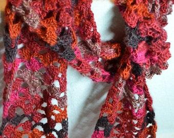 Filigree Scarf-crochet scarf-light scarf-