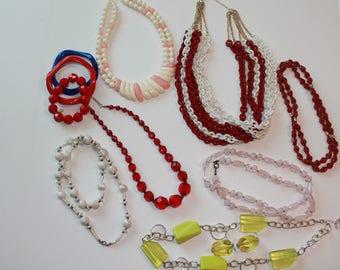 Vintage To Modern Beaded Jewelry Lot