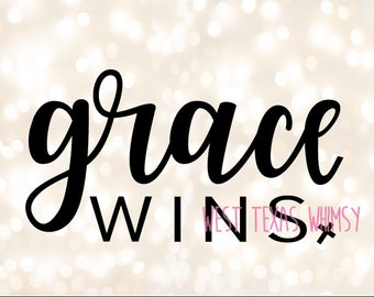 Grace Wins SVG, Easter Sunday svg, christian mom svg, bible verse svg, christian cut file, png cut file, instant download, digital download