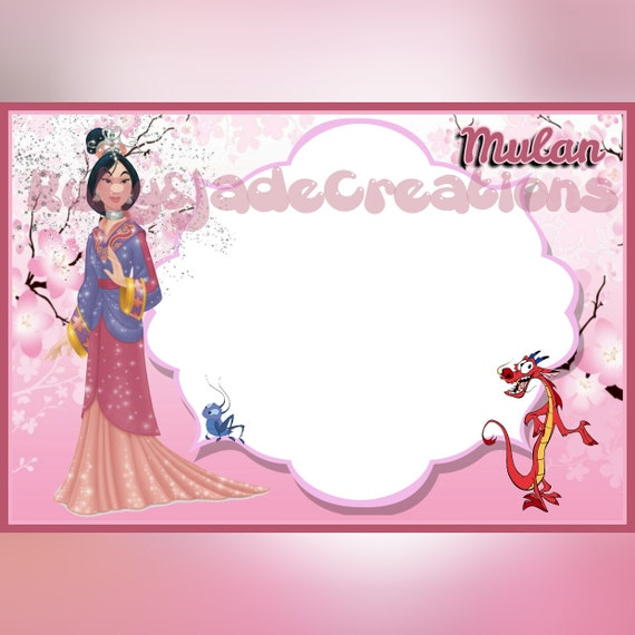 Mulan, Disney Autograph book, printable page from ...