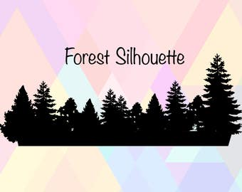 Forest SVG File | Forest Silhouette Svg | Forest Cricut Svg | Forest Cut File | Tree Cricut Svg | Tree Svg File | Tree Cameo Svg | Tree Png