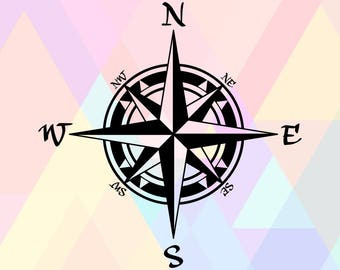 Compass SVG File | Compass Cut File | Compass Cricut File | Compass Dxf | Compass Clipart | Compas North Svg | Compass File | Compass Png