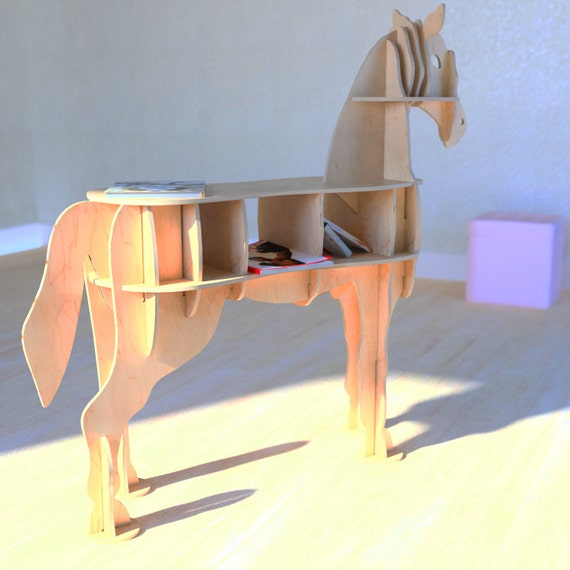 CNC Vector For Plywood Horse Coffee Table