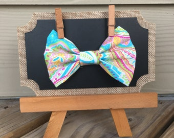Spring Paisley Bow