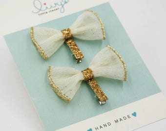 Butterfly Bow Hair Clip (Set)