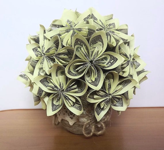 Items similar to Мoney bouquet of flowers,origami flowers ... - photo#16
