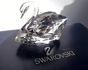 Swarovski Silver Crystal ~ Medium Swan ~ Stunning ! Swarovski Vintage-Crystal Swan-Max Shreck-CollectablesBeauties of the Lake-Fine Crystal-