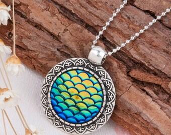Mermaid Necklace, Mermaid Pendant, Mermaid Jewelry, Ocean Necklace, Sea Charm, Bohemian, Gifts