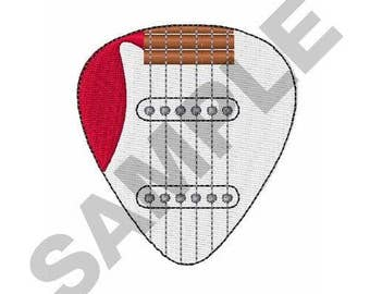 Electric Guitar Pick - Machine Embroidery Design