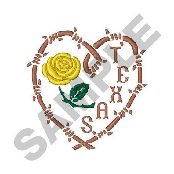 Yellow rose of texas machine embroidery design