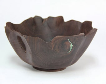 Decorative walnut bowl