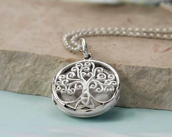 Sterling Silver Filigree Tree Locket