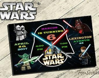 Lego LEGO Star Wars Einladung Werden Kriege Geburtstagseinladung, Lego Star  Wars Geburtstagsparty, Lego Star