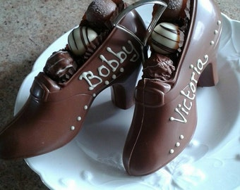 Handmade Belgian Chocolate Shoe with Truffles