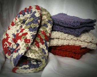 Crochet 100% Cotton Washcloths