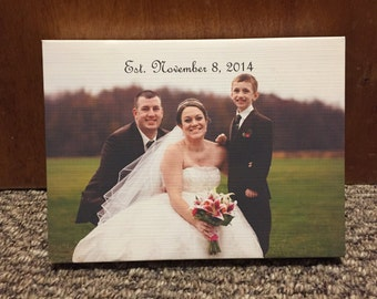 Personalized Wedding Photo
