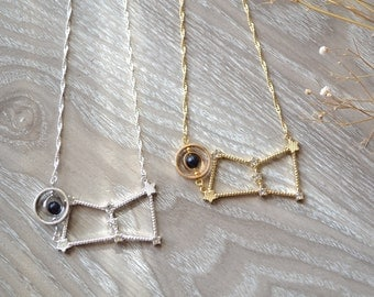 Stars Constellation with little planet necklace