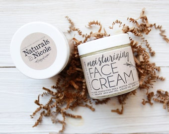 Organic Face Cream - All Natural, Moisturizing Facial Cream  - Dry Skin Moisturizer - Night Time Moisturizer - Sensitive Skin Moisturizer