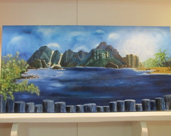 Original Oil on Canvas 'Island Bay'