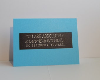 Awesome Card, Blue and Black