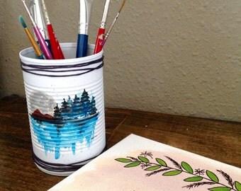 Mountain Design Pen Cup