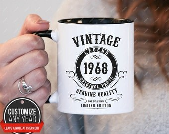 Vintage c in 1968, 49th birthday 49th birthday gifts for women, 1968 birthday gift, 49th birthday mug for mens, 49th birthday