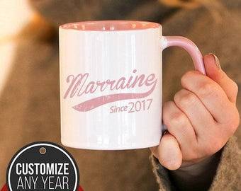 Marraine Since (Any Year) Marraine Gift, Marraine Birthday, Marraine Mug, Marraine Gift Idea, Baby Shower,