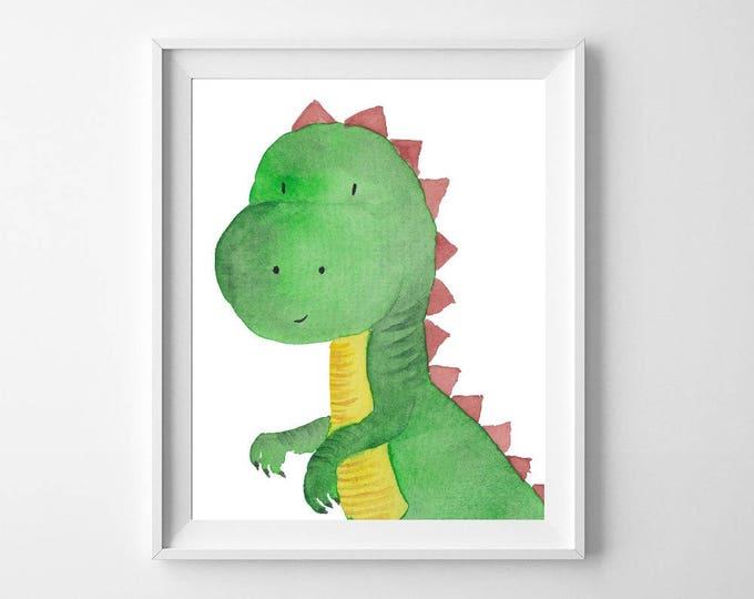 Baby Gift, Baby Shower Gifts, Dinosaur Nursery Set, Nursery, Dinosaur Invitation, Dinosaur, Dinosaur Print, Kids Gift, Wall Art, Kids Room