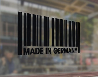 Made in Germany barcode Vinyl Stickers Funny Decals Bumper Car Auto Computer Laptop Wall Window Glass Skateboard Snowboard Helmet