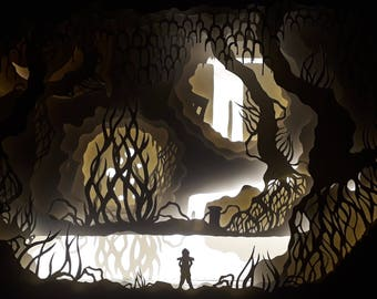 LED Lightbox, Papercut Diorama, Mikhah's Adventure pt. 1