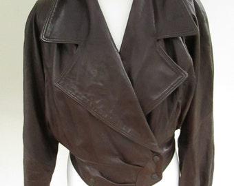 Vintage 1980's soft leather ladies jacket