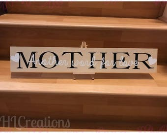 Name Wood Plaque, Mother, Father, Daughter, Son, Grandmother, Grandfather, Aunt