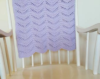 Purple Crocheted Baby Blanket
