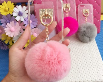 fur pom iphone 5/5s,iphone 6/6s,iphone 6/6s plus case