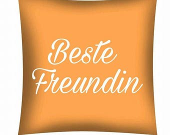 Printed cushion... Best friend