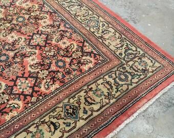 """Semi antique Persian Mahal Rug 9' x 12'3"""""""