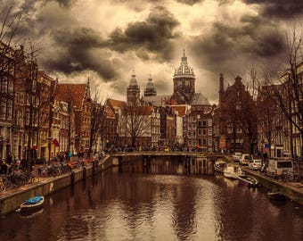 Amsterdam Canal & Street