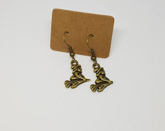 Bronze Plated Witch Earrings