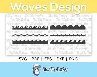Waves Clipart File | Waves Svg File Wave Png Wave Cricut Cut File Waves Cutting File  Waves Wave Silhouette File  Waves Wave File Silhouette