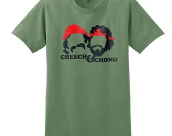 Cheech & Chong t-shirt in olive green