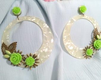 Flamenco earrings, fair earrings, party earrings, mother's Day