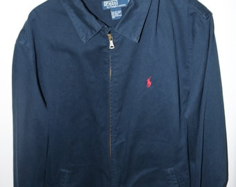 Vintage Polo cotton zip jacket, size XL