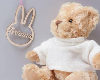 Personalised Easter Bunny Hanging Bauble