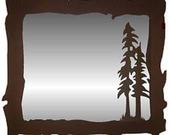 Big Horizontal Mirror - Tree Design