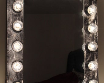 vanity mirror with lights etsy. Black Bedroom Furniture Sets. Home Design Ideas