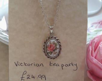 Victorian tea party necklace