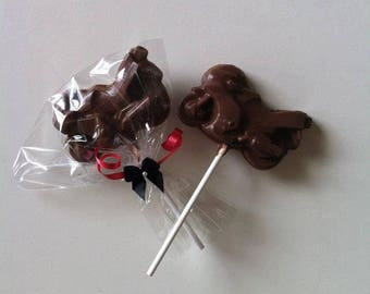 Motorbike Chocolate Lollipop