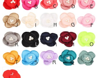 4.5cm Newborn Fashion Chiffon Petals Flower Hair Fabric Hair Flowers For Baby Girls Hair Accessories/Headbands Wholesale For Hair Clips
