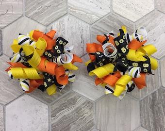 Korker bows, 2 korker bows, Halloween korker bows, set of 2 Halloween korker bows